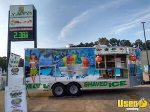 2016 - 8.5' x 20' Used Freedom Ice Cream / Snowball / Food Concession Trailer for Sale in Tennessee!