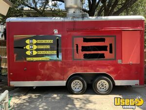 2003 Wells Cargo 8.5' x 16' Mobile Kitchen Food Concession Trailer with Pro Fire Suppression System for Sale in Texas!!