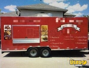 Lightly Used 2015 8.5' x 20' Food Concession Trailer with Pro Fire Suppression System for Sale in Texas!