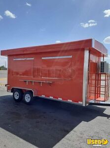 Newly Built 2020 7' x 14' Food Concession Trailer w/ All Stainless Steel Kitchen for Sale in Texas!