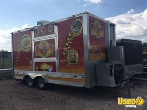Lightly Used 2018 8' x 15' Food Concession Trailer for Sale in Texas, Full Service Kitchen!