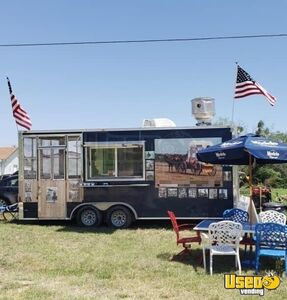 2015 - 8' x 26' Food Concession Trailer w/ 6' Screened Porch + Pro Kitchen for Sale in Texas!!