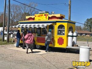 Gorgeous Trolley Food Concession Trailer w/ Loaded Kitchen for Sale in Virginia!