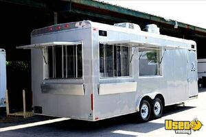 8' x 24' Mobile Kitchen Concession Trailer with Garage for Sale in Wisconsin!!!