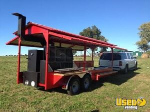 2019 7' x 16' Open Rotisserie Smoker Trailer/Never Used Tailgating BBQ Trailer for Sale in Alabama!