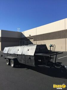 All Stainless Steel 4' x 16' Commercial Open Grill BBQ Pit Tailgating Trailer for Sale in Arizona!