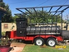 2017 -5.5' x 18' Commercial BBQ Smoker and Grill Trailer for Sale in California!