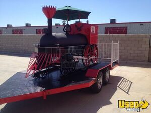 7' x 18' Custom BBQ Grill and Smoker Food Trailer for Sale in California!!!