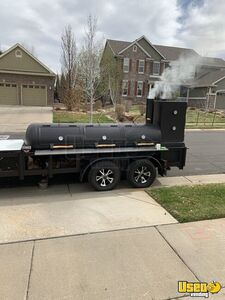 2017 - 7' x 21' Open BBQ Smoker Tailgating Trailer / Used Barbecue Pit for Sale in Colorado!