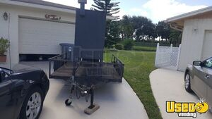 Used 2003 Custom-Built Wood Burning Smoker Barbecue Trailer in Good Condition for Sale in Florida!