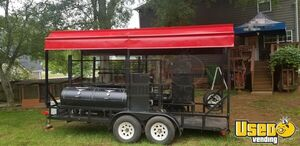 2010 - 7' x 16' Open Covered BBQ Pit Smoker Trailer / Tailgating and BBQ Rig for Sale in Georgia!