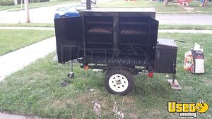 2018 - 4' x 4'  Commercial BBQ Grill & Smoker Food Trailer for Sale in Iowa!!!