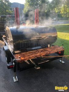 Used Open Barbecue Smoker Mounted on a Trailer / BBQ Tailgating Trailer for Sale in Massachusetts!