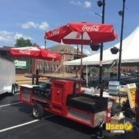 2016 - 4' x 11' Commercial BBQ Grill & Smoker Food Trailer for Sale in Missouri!
