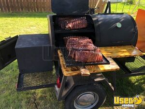 All Stainless Steel 4' x 8' Open Barbecue Trailer / Used Mobile Barbecue Pit for Sale in Nebraska!