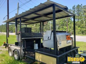 Custom-Built Barbecue Pit / Used Mobile BBQ Unit Mounted on an 8' x 16' Trailer for Sale in Texas!
