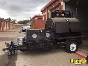 2012  - 5.5 x 10' Commercial BBQ Grill & Smoker Food Trailer for Sale in Texas!