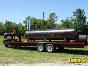 2010 - 5' x 18' Open BBQ Smoker on a 28' Gooseneck Tailgating Trailer for Sale in Texas!!!