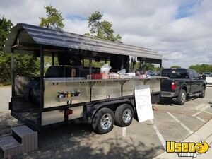 2012 Custom-Built 7.6' x 16' Open BBQ Smoker Trailer / Used Tailgating Trailer for Sale in Texas!