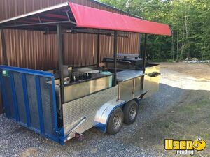 Custom Open 8' x 16 Grill & BBQ Smoker Trailer for Sale in Vermont!