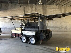 2000 - 6.8' x 12.5' Open BBQ Tailgating Smoker with Trailer for Transport for Sale in Virginia!
