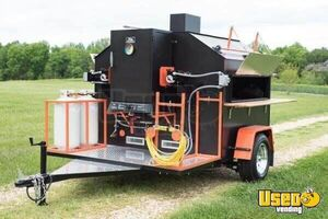 Pristine Custom-Made Rotisserie Barbecue Smoker Tailgating Trailer for Sale in Virginia!