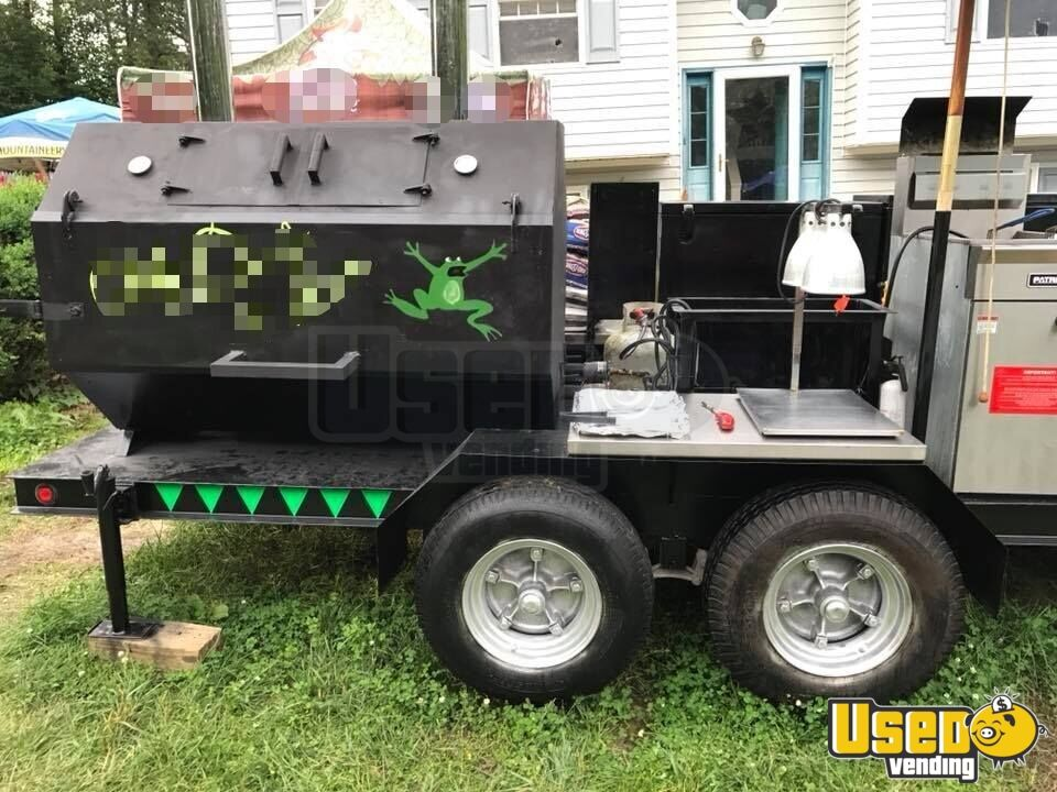 24' Commercial BBQ Grill & Kitchen Food Trailer for Sale in West Virginia!!!