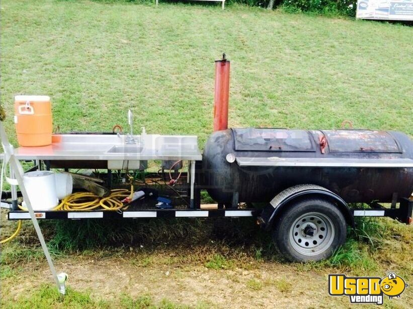 Open Bbq Smoker Trailer Work Table Virginia for Sale - 2