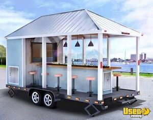 2018 - 8' x 16' Unique Party Trailer / Tailgate Party Trailer for Sale in New Hampshire!