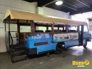 1995 GMC Tourist Trolley Style Mobile Party Bus with Canopy + Stairs for Sale in Indiana!