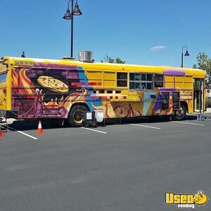 Turnkey Diesel BlueBird Bus Pizza Food Truck w/ Wood Fired Oven for Sale in California!
