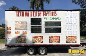 2019 - 8.5' x 18' Pizza Concession Trailer for Sale in Florida - Only Used for Six Months!
