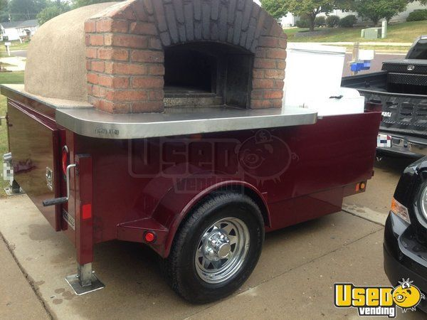 2012 - 6.5' x 12.4' Turnkey Wood Fired Pizza Trailer for Sale in Illinois!!!