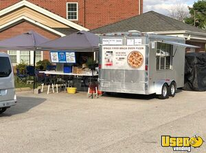 Turnkey 2006 Forest River 16' Brick Oven Pizza Trailer with Outdoor Smoker for Sale in Indiana!