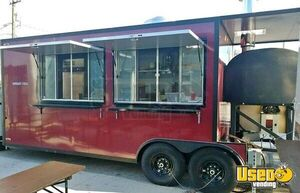 2018 - 8' x 28' Wood-Fired Pizza Concession Trailer with Porch for Sale in Texas!!