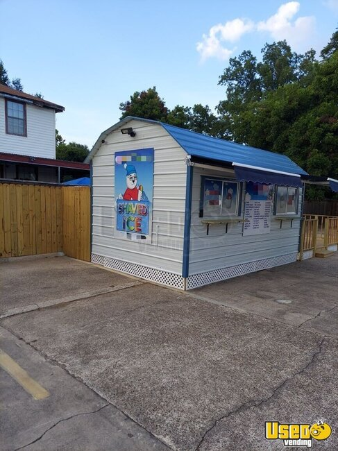 Shaved Ice Building Snowball Trailer Louisiana for Sale