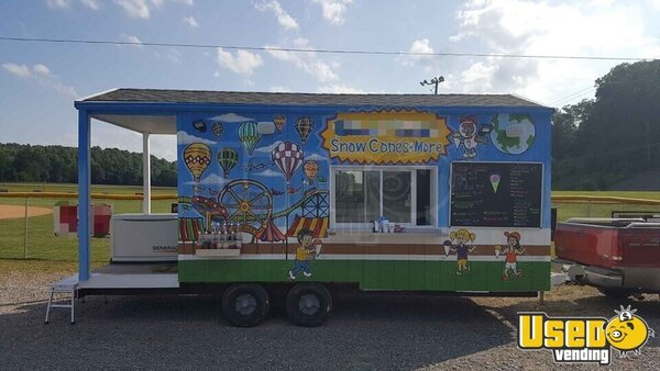 Shaved Ice Concession Traier Snowball Trailer Tennessee for Sale