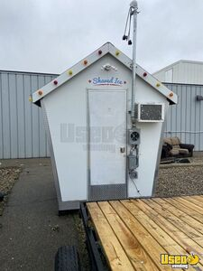 Shaved Ice Concession Trailer Snowball Trailer Air Conditioning Michigan for Sale
