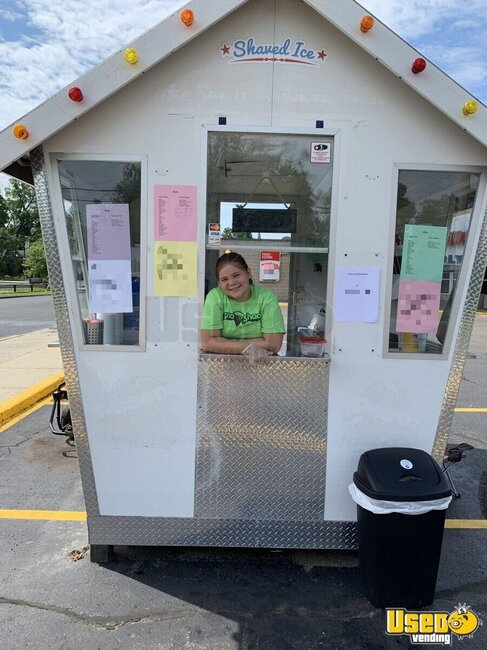 Shaved Ice Concession Trailer Snowball Trailer Michigan for Sale