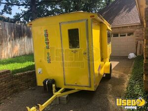 Snowball Trailer Exterior Customer Counter Texas for Sale