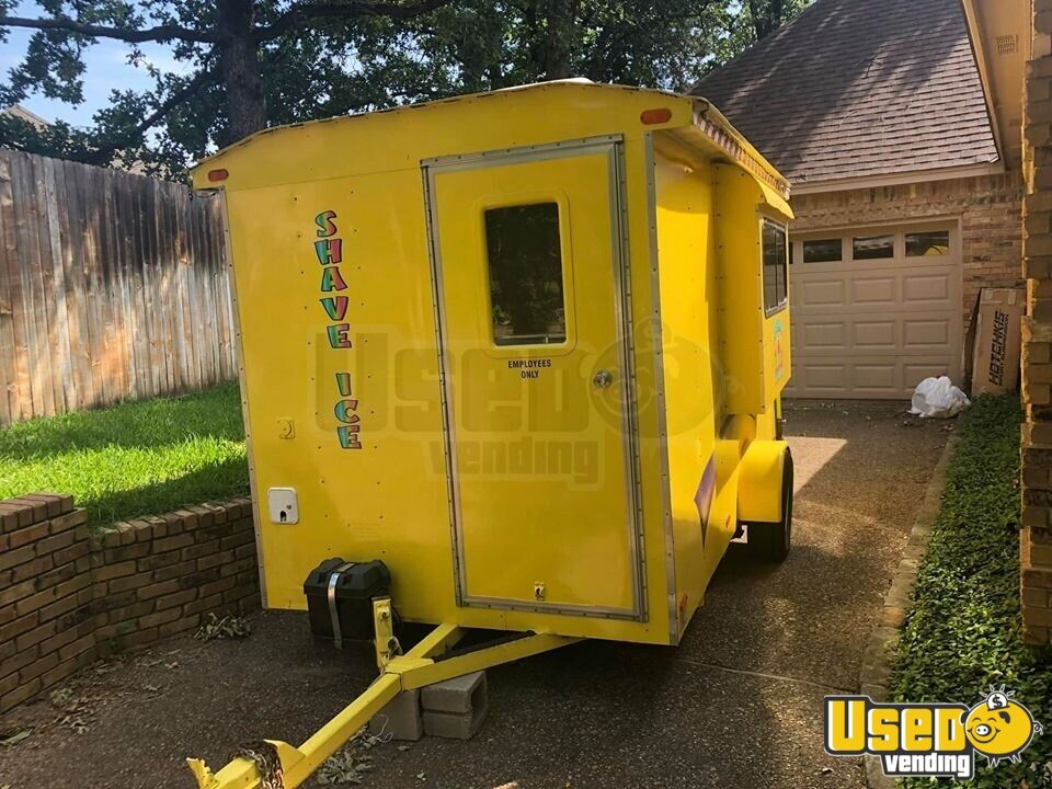 Snowball Trailer Exterior Customer Counter Texas for Sale - 6