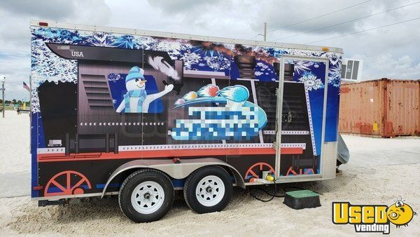 Turnkey Ready 2013 - 7.5' x 14' Arising Industries Snowball Concession Trailer for Sale in Florida!