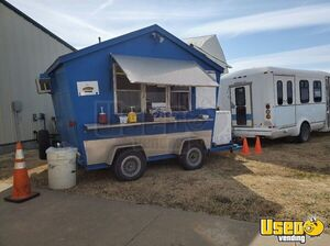 8.25' x 11.2' Shaved Ice/Snowball Concession Trailer with Ford E350 Bus for Sale in Kansas!!