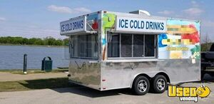 2016 8.5' x 16' Shaved Ice/Snowball Concession Trailer in Great Working Condition for Sale in Texas!