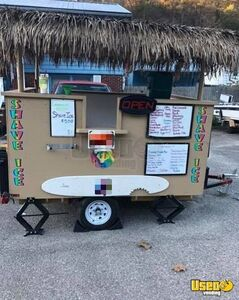 Sno Biz Tiki Style Concession Trailer Solar Snowball Concession Stand for Sale in West Virginia!