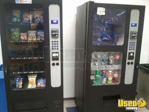 (2) - 2009 USI Electronic Combo & Snack Vending Machines!!!