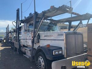 2012 Western Star 4800 Sleeper Cab Semi Truck with Car Hauler Trailer for Sale in California!