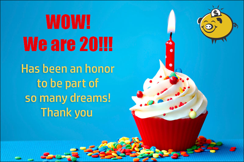 Wow! We are 20!!!