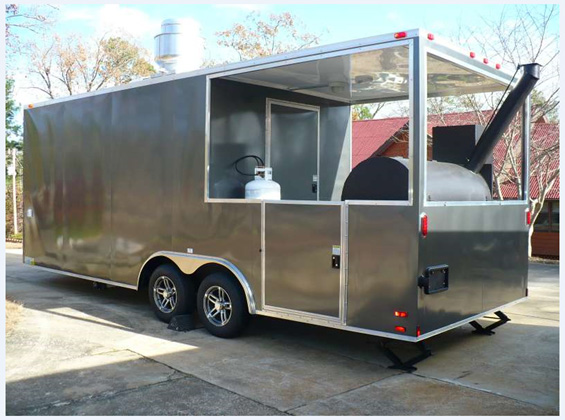 Brand New 22' Custom Built BBQ Porch Concession Trailer