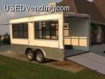 16ft concession trailer with ramp door and side windows for sale